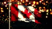 esfarrapado : Canada Flag Torn Burned War Freedom Loop Animation - 4K Resolution Ultra HD UHD