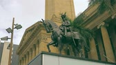 Statue of King George V in Front of Museum of Brisbane , King George Square, Brisbane City Hall 4K