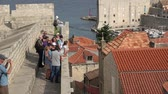 dalmácia : Dubrovnik, Croatia - July, 2018: View of Dubrovnik city wall in Croatia Vídeos