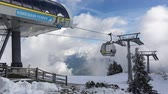 tirol : Mayrhofen, Austria - October, 2018: Cable car lift cabin Mayrhofner Bergbahnen on famous ski resort in Mayrhofen, Austria Stock Footage