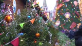 red square : Christmas market fair in Moscow, Russia