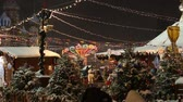 Moscow, Russia - January, 2018: Christmas market fair in Moscow, Russia