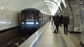 first : Moscow Russian Federation  March 07: Train arrives at the Moscow metro station Chkalovskaya The Moscow Metro is the first busiest metro system in Europe.