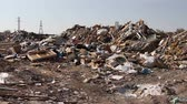 domestic : Large garbage dump waste Stock Footage