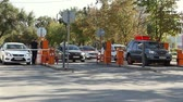 entrada da garagem : Volgograd, Russian Federation - September 27, 2015: Automatic security barrier at the parking Vídeos