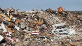 aterro : Large garbage dump waste Stock Footage