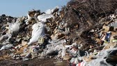 environmental conservation : Large garbage dump waste Stock Footage