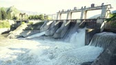 ワッツ : Reset of water at hydroelectric power station on the river