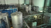 purified : Moscow, Russian Federation – March 18, 2017: Modern filter system at large beer company Stock Footage