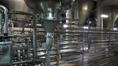 piping : Moscow, Russian Federation - October 19, 2017: Brewing production - fermentation department