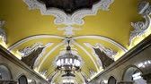 фреска : Moscow, Russian Federation - March 17, 2017: The hall of Komsomolskaya subway (Circle Line) in Moscow.