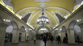 fresk : Moscow, Russian Federation - March 17, 2017: The hall of Komsomolskaya subway (Circle Line) in Moscow.