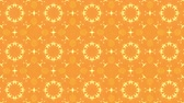 arabesco : Orange Particles Kaleidoscope. Looping motion design. High Definition video clip.
