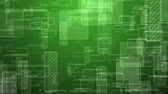 Motion of abstract digital squares. Seamless loop animation of green technology background.