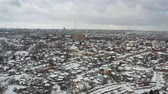 Winter panoramic aerial view of cityscape of Dnipro city. (Dnepr, Dnepropetrovsk, Dnipropetrovsk). Ukraine