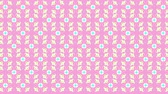 Seamless loop flower kaleidoscope pattern. Abstract multicolored motion geometric background. Стоковые видеозаписи
