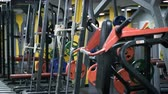 ginásio : Fitness club weight training equipment gym modern interior Vídeos