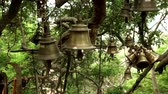 Hindu temple bells on natural background