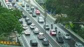 traffic jam in city center at Malaysia Stok Video