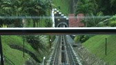 kablolar : A tram railway on Penang Hill, Malaysia, People use Penang Hill Train track closeup