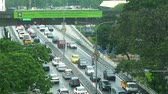 traffic jam : traffic jam in city center at Malaysia, Stock Footage