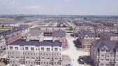 área de trabalho : Aerial view of the residential and construction area of the city 4k