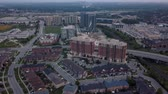 propriedade : Aerial view of the residential area of the city 4k