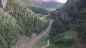 Million Dollar Highway Colorado Route 550 near Ouray Aerial
