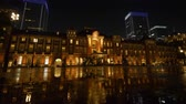 high rise buildings : Marunouchi Exit of Tokyo Station at Night