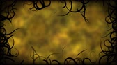 emaranhado : Black Vines Border Background Animation - Loop Yellow