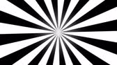 Rotating Stripes Background Animation  Loop Black and White