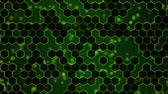 array : Scrolling Hexagon Background Animation - Loop Green