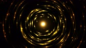 emitting : Colorful Circular Particle Emitting Sphere Animation - Seamless Loop Golden