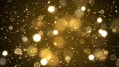 Colorful Animated Shining Particle Background - Loop Golden