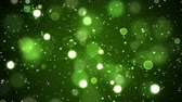 Colorful Animated Shining Particle Background - Loop Green
