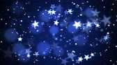 Colorful Animated Shining Stars Particle Background - Loop Blue Stock Footage