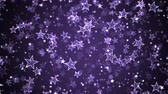 Colorful Animated Falling Shining Stars Particle Background - Loop Violet
