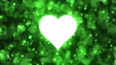 Pulsing Heart Shape and Background Animation - Loop Green