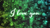 Pulsing animated I love you text and Background Animation - Loop Rainbow