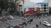 SAIGON VIETNAM MAY 12 2015: Road traffic in Saigon Vietnam. In the biggest city in Southern Vietnam are hn 4 mil. congested the traffic is often Do Motorbike Accessories.
