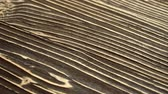 dekor : A sliding footage of a beautiful wooden surface texture. May be used for background. Stok Video