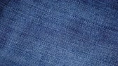 giysi : Blue denim jeans texture. Jeans background. Top view. Stok Video