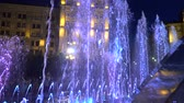 arte moderna : Night Fountain Spray.Full hd video