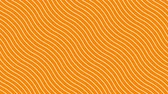 katalog : White curved lines in dynamic wave motion, orange background. Future geometric diagonal lines patterns motion background. 4k