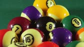 recreativo : Pool balls on billiards game table