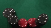 gamble : Two rolling white dice on casino table - Gambling addiction concept