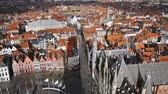 salvator : Top view of the city of Bruges, Belgium