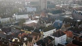 catedral : Top view of the city of Bruges, Belgium