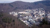 Panoramic view of Carlsbad (Karlovy Vary) Czech Republic