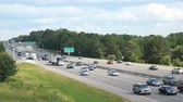 dálnice : slowing traffic during evening rush hour on I-26 near the I-20 junction in Columbia South Carolina